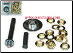 GROMMET REPAIR KIT w/PUNCH - 60pc  Tarps, Tents, Awnings, Pool. Leather - FREE SHIPPING (SKU: 853F)