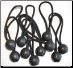 "100PC BALL BUNGEES  6"" ECONOMY  BLACK BUNGEE  FREE SHIPPING"