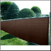"8' X 50' BROWN MESH SHADE SCREEN FENCE TARP~~Approx. 7'6"" x 49'6"" ~~FREE SHIPPING"
