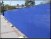 "6' x 50'  BLUE SCREEN MESH PRIVACY FENCE TARP~~~Approx. 5'6"" x 49'6""  -F/S"