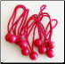 "BALL BUNGEES  6"" ECONOMY  RED BUNGEE  25pcs FREE SHIPPING"