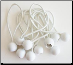 "100PC BALL BUNGEES  6"" ECONOMY  WHITE BUNGEE  FREE SHIPPING"