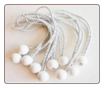 "100pcs BALL BUNGEE 11"" PREMIUM HEAVY DUTY WHITE BALL  BUNGEE  FREE SHIPPING"