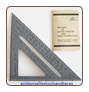 ALUMINUM SQUARE - PROTRACTOR - FRAMING SQUARE - FREE SHIPPING