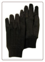 GLOVES -  BROWN JERSEY GLOVE - 12 PAIR - One size fits ALL - FREE SHIPPING