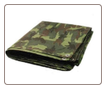 12' X 24'  GREEN PREMIUM 8ml  CAMO / CAMOUFLAGE POLY TARP w/Grommets / Free Shipping